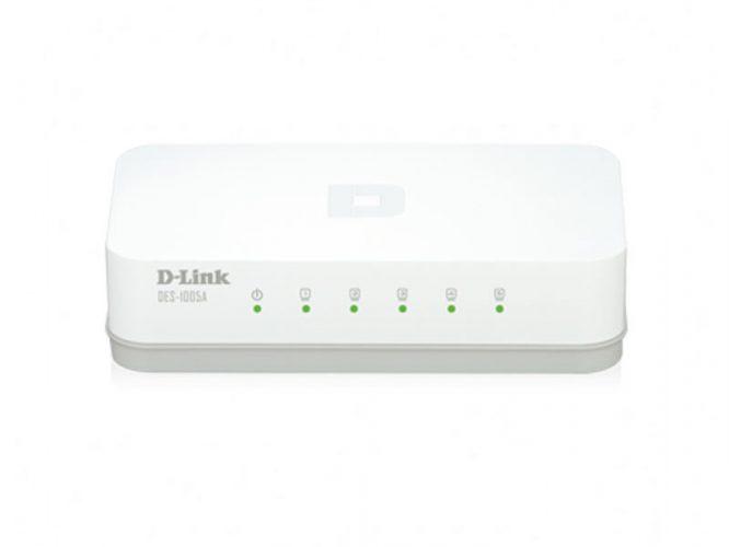سوییچ 5 پورت غیر مدیریتی اترنت 10,100 دی-لینک DES-1005A