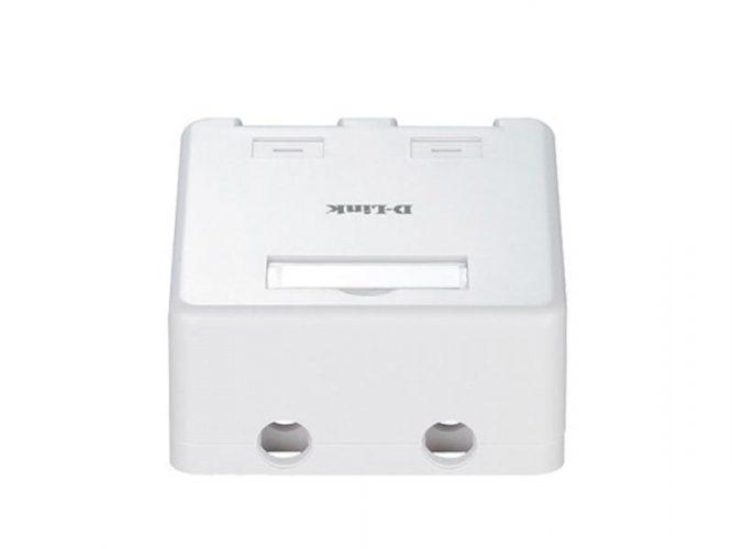 جعبه پریز شبکه رو کار دو پورت دی-لینک NKB-1WHI21
