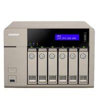 ذخیره ساز تحت شبکه بدون هارددیسک دارای 6 ورودی هارد کیونپ مدل QNAP TVS-663-4G