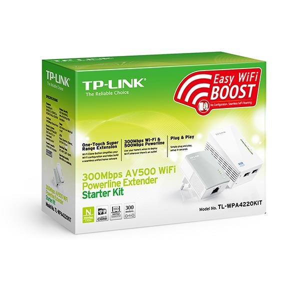 کیت آداپتور پاورلاین- مبدل برق در شبکه وایرلس سری N300 تی پی لینک TP-LINK TL-WPA4220KIT