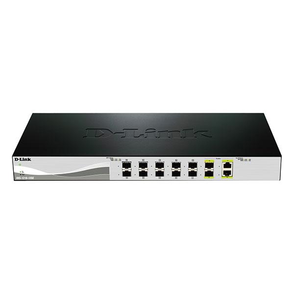 سوئیچ مدیریتی 10 پورت 10 گیگ SFP دو پورت100 SFP دی-لینک D-LINK DXS-1210-12SC