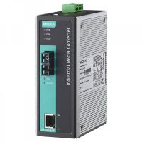 مبدل اترنت به فیبر نوری صنعتی موگزا MOXA IMC-101-M-SC-T Ethernet to Fiber Converter