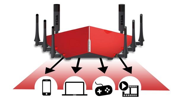 روتر وایرلس هشت آنتن دوال بند سری AC5300 دی-لینک D-LINK DIR-895L/R