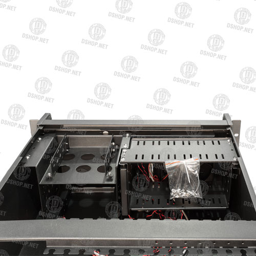 کیس رکمونت 4یونیت عمق 45cm به همراه پاور 530W ردمکس دی اس ای D450+SP530W