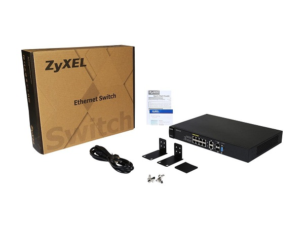 سوییچ 8 پورت مدیریتی 10,100,1000 زایکسل GS2210-8HP Zyxel