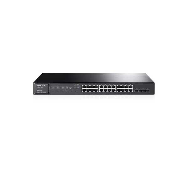 سوییچ مدیریتی 24 پورت گیگ لایه 2 و چهار پورت SFP گیگ تی پی لینک TP-LINK T2600G-28MPS (TL-SG3424P)
