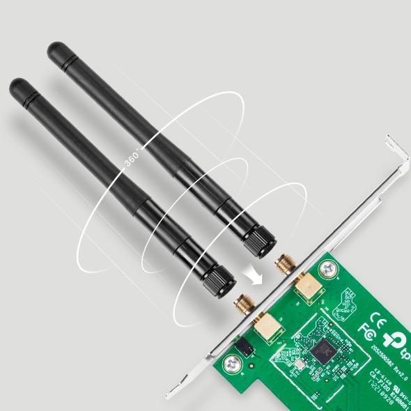 کارت شبکه وایرلس PCI Express دو آنتن تی پی لینک TP-LINK TL-WN881ND