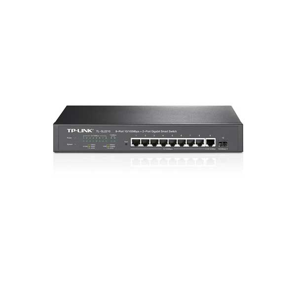 سوئیچ 8 پورت اترنت و 2 پورت گیگ وب اسمارت تی پی لینک TP-Link TL-SL2210
