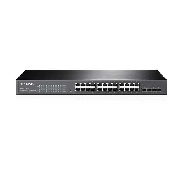 سوئیچ 24 پورت اترنت با 4 پورت SFP وب اسمارت تی پی لینک T1600G-28TS(TL-SG2424) TP-Link
