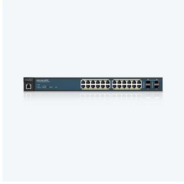 سوئیچ 28 پورت گیگ POE هوشمند اینجنیوس EWS1200-28TFP EnGenius