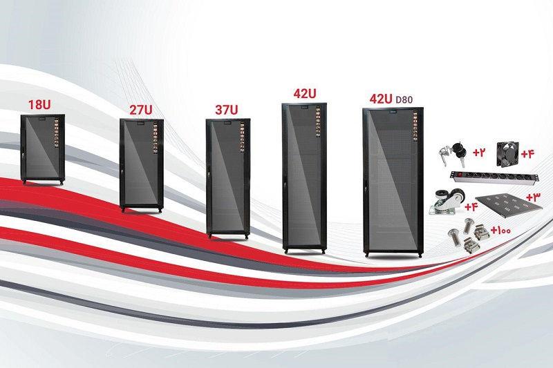 رک 42 یونیت عمق 80Cm عرض 80Cm دیتاشین آلترا همراه متعلقات UNR428F