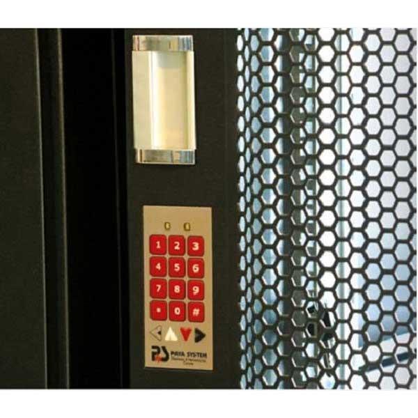 قفل دیجیتال رمزدار روی درب های جلو رک پایا سیستم payasystem |