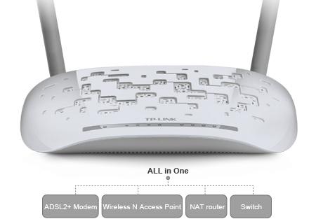 مودم روتر ADSL2 Plus بیسیم N300 تی پی لینک TD-W8961N TP-Link