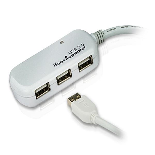 هاب USB 2.0 چهار پورت کابل اکستندر آتن UE-2120H up to 60m ATEN