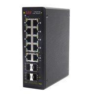سوییچ صنعتی POE هوشمند 8 پورت 10/100/1000 و 4 پورت فیبر نوری SFP اس ای ایی SAE-IPE8900F-QGSFPM