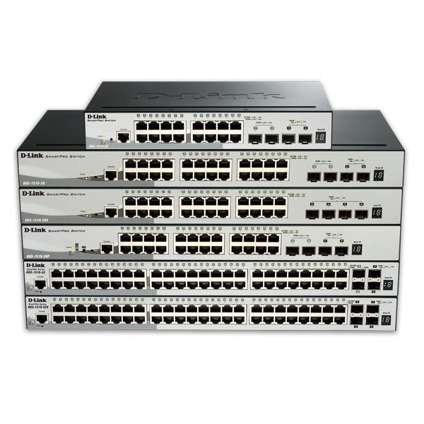 سوئیچ وب اسمارت 28 پورت 10,100,1000 دی لینک DGS-1510-28X D-Link