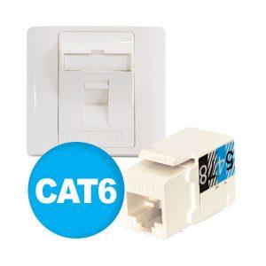 فیسپلیت تکپورت + کیستون Cat6 آلفا a03F101-6 Alfa