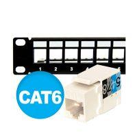 پچ پنل لودد 24 پورت Cat6 همراه ساپورت بار آلفا D24P-6