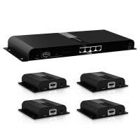 اسپلیتر اکستندر ۱ به ۴ HDMI لنکنگ LKV314-HDbitT LENKENG