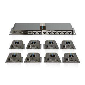 اسپلیتر اکستندر ۱ به ۸ HDMI لنکنگ LKV718PRO LENKENG