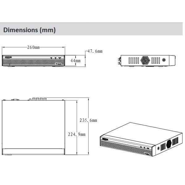 دستگاه ذخیره ساز تصاویر دوربین آنالوگ 4 کانال داهوا Dahua XVR5104HS-X1