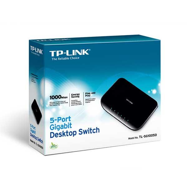 سوئیچ 5 پورت گیگ غیر مدیریتی تی پی لینک TP-LINK TL-SG1005D