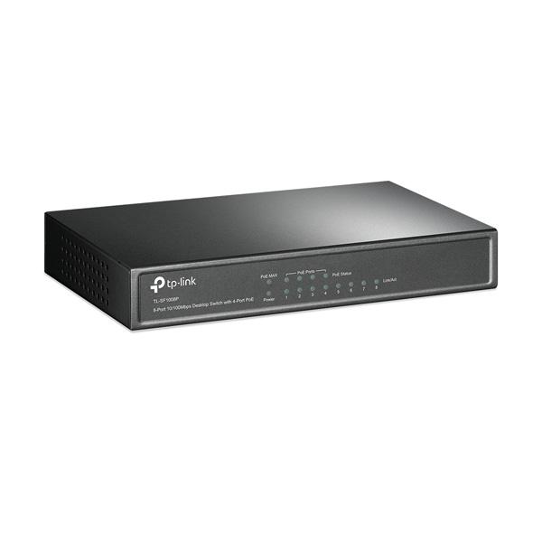 سوئیچ شبکه 8 پورت 4 پورت POE تی پی-لینک TP-LINK TL-SF1008P