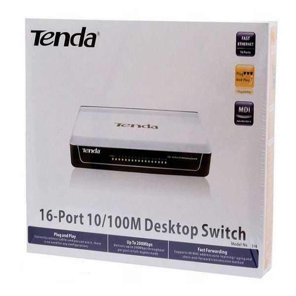 سوئیچ 16 پورت غیر مدیریتی اترنت تندا Tenda S16