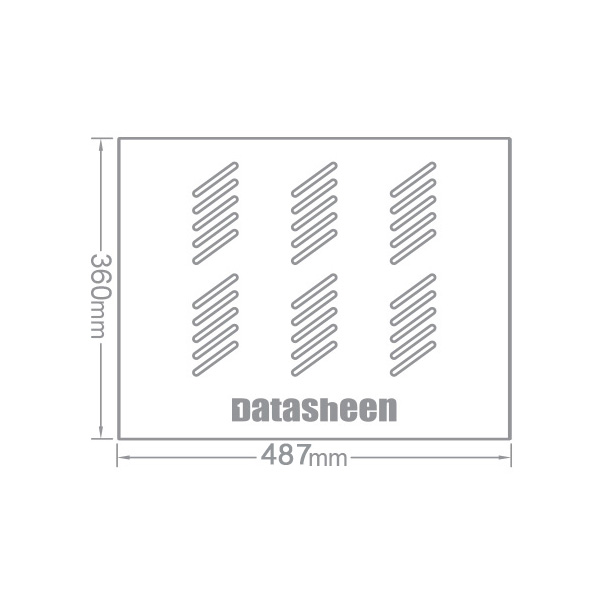 سینی رک ثابت 1 یونیت متناسب برای رک های عمق 60 دیتاشین Datasheen SU06SFB