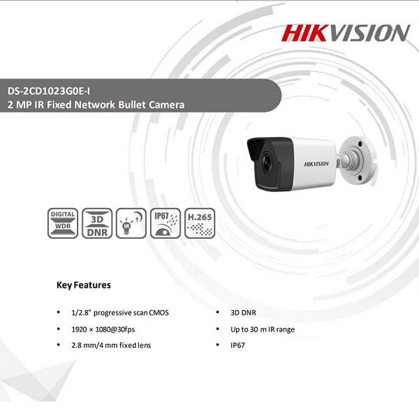 دوربین مداربسته بولت هایک ویژن مدل DS-2CD1023G0E-I