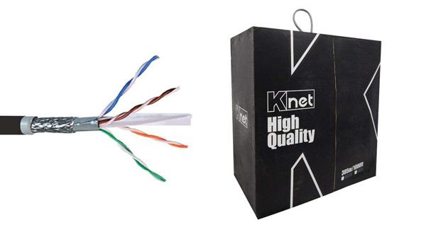 کابل شبکه CAT6 حلقه ای 305 متری SFTP PVC Outdoor کی نت K-N2001