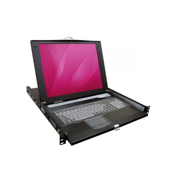 ال سی دی کنسول 17 اینچ مدل HKSE-10 برند Rextron با سوئیچ 8 پورت PS/2–USB/VGA