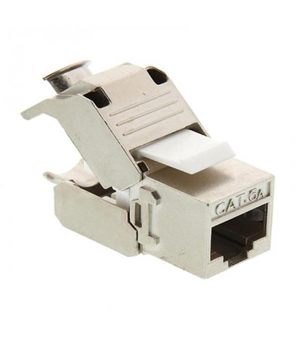 کیستون 180 درجه CAT6a SFTP شیلدنقره ای مدل K-N1116