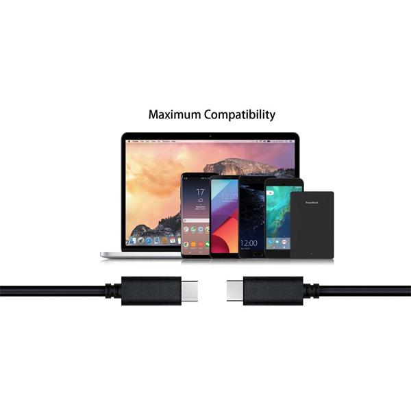 کابل تبدیل USB3.1 CM/CM کی نت پلاس مدل KP-C2000 طول 1 متر