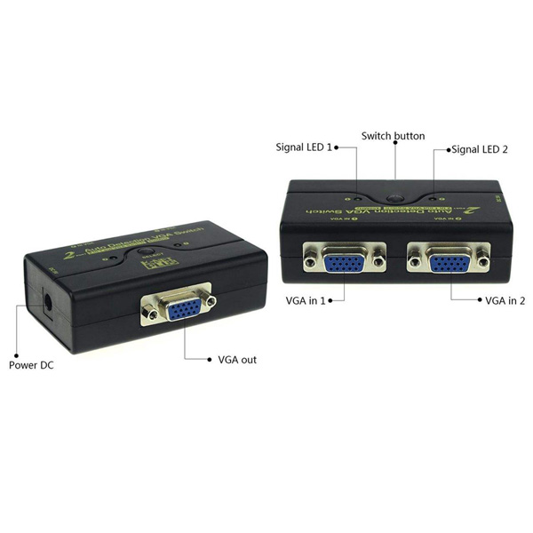 سوئیچ دو پورت VGA کی نت پلاس مدل KPM9021