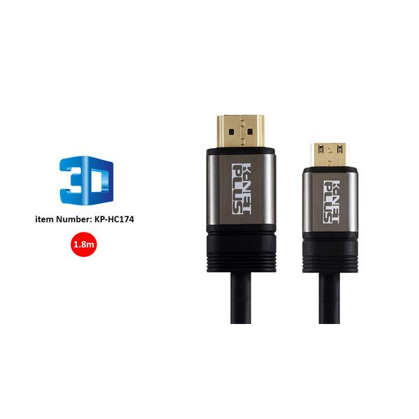 کابل HDMI2.0 to Mini کی نت پلاس مدل KP-HC174 به طول 1.8 متر