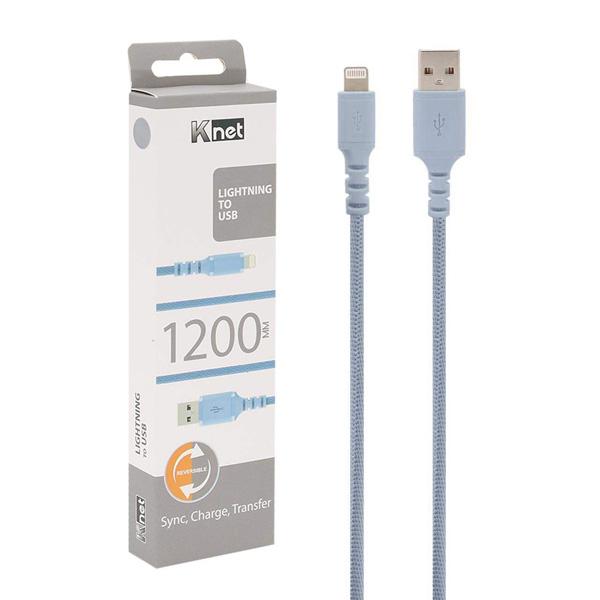 کابل تبدیل USB به لایتنینگ کی نت مدل K-UC560 طول 1.2 متر