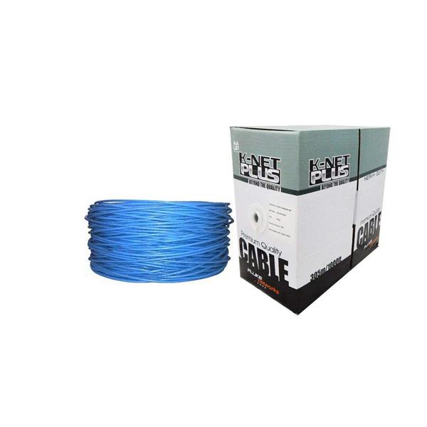 کابل شبکه CAT6A UTP کی نت پلاس مدل KP-N1254 طول 305 متر