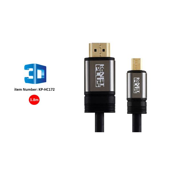 کابل HDMI2.0 to Micro HDMI کی نت پلاس مدل KP-HC172 به طول 1.8 متر